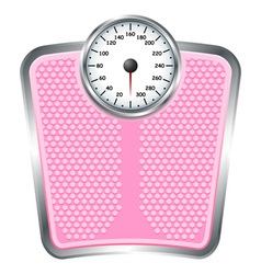 Bathroom scales vector