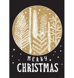 Xmas card christmas greeting vector