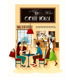 Coffee house design concept vector