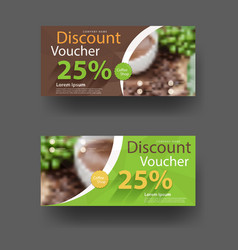 Discount voucher template vector