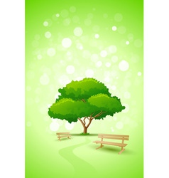 Green tree background vector
