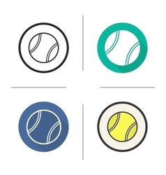 Tennis ball icons vector