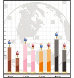 adjustable demographic graph vector image