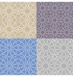 Arabic islamic seamless pattern setGeometrical vector image vector image