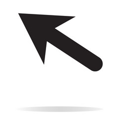 Arrow icon on white background black arrow sign vector