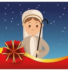 Biblical christmas related icons image vector