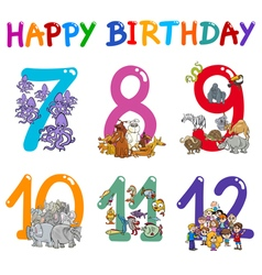 Birthday greeting card designs vector