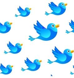 Blue bird social media seamless background vector