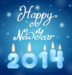 candles 2014 Happy New Year vector image vector image