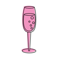 Champagne glass toast icon image vector