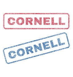 Cornell textile stamps vector