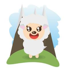 cute sheep animal wildlife vector image vector image