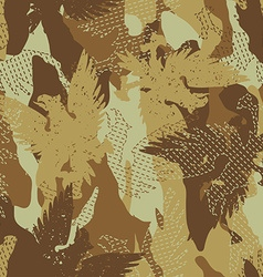 Desert eagle military camouflage seamless pattern vector