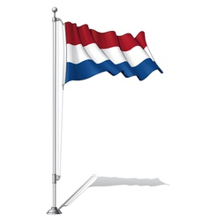 Flag pole netherlands vector