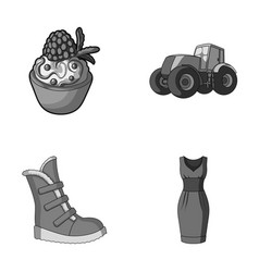 food shoes and other monochrome icon in cartoon vector image