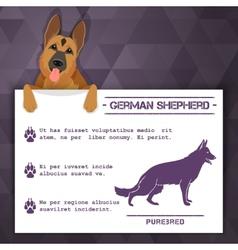German shepherd dog banner vector