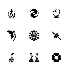 Jewellery icon set vector