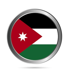 Jordan flag button vector image