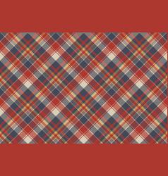 Red blue tartan fabric texture seamless pattern vector