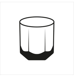 Rocks glass tumbler sign simple icon vector