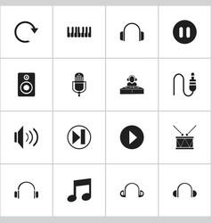 Set of 16 editable media icons includes symbols vector