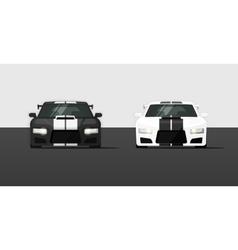 Sport expensive tuned cars isolated vector image