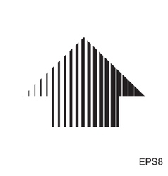 Stripes abstract arrow vector