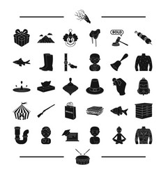 Tattoo drum and other web icon in black style vector