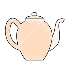 Tea porcelain jar vector