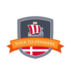 Tour to denmark vector