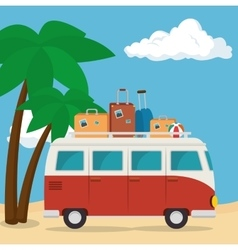 van vehicle tourism icon vector image vector image