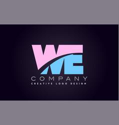 We alphabet letter join joined letter logo design vector