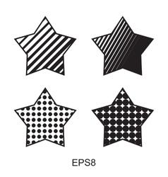 Dots star icon set vector image