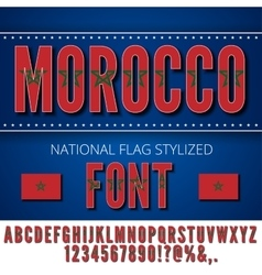 Morocco flag font vector