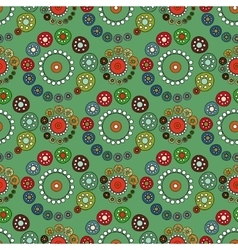 Bright green seamless pattern vector