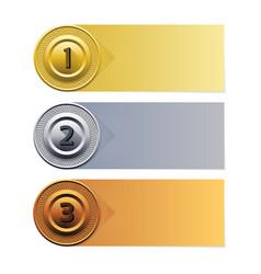 Progress background gold silver bronze ban vector