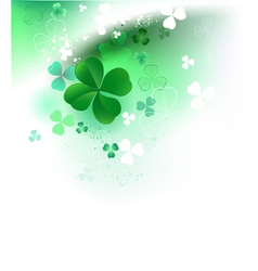 Clover on a light background vector image