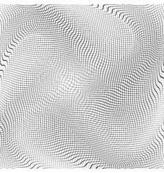 Crumpled Grid vector image