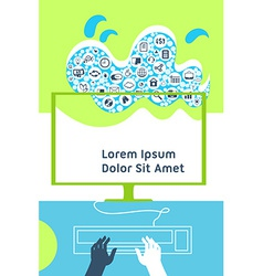 Cloud computing mobile device application network vector image