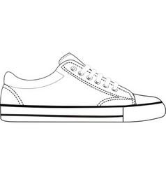 sneaker vector image