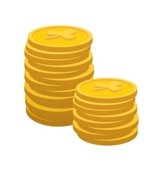 Lucky gold coin cartoon icon vector