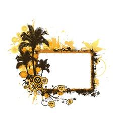 summer grunge floral frame vector image