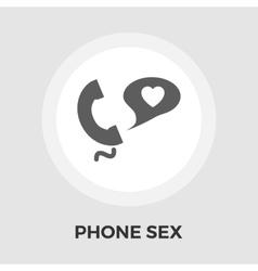 Phone sex flat icon vector