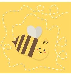 Bee Flying Path Cartoon vector image
