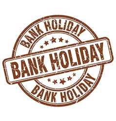 Bank holiday stamp vector