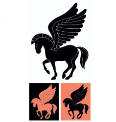 decorative pegasus vector image