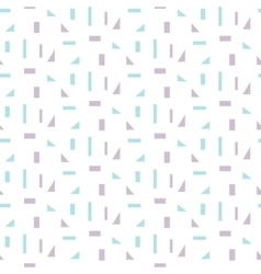 Abstract geometric shapes white seamless pattern vector