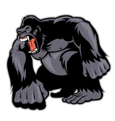 Big gorilla mascot vector