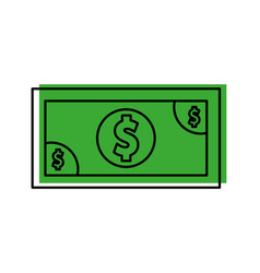 bills dollar isolated icon vector image vector image
