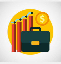business startup concept icons vector image vector image